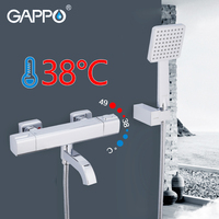 GAPPO bathroom shower faucets wall mounted thermostatic mixer chrome bathroom shower set thermostat shower mixer bathtub tap