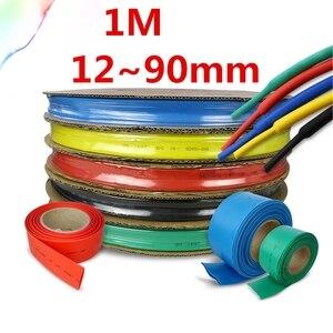 1 Meter/lot 2:1 colours 12~90mm Diameter Heat Shrink Heatshrink Tubing Tube Sleeving Wrap Wire DIY Connector Repair(China)