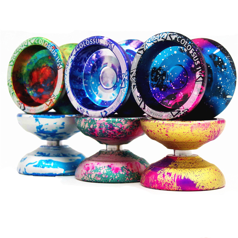 Have An Inquiring Mind 2019 New Colors Topyo Colossus 4 Yoyo Professional Topyo Nation Metal Bearing Yoyo Metal Ball Competition Free Shipping Promote The Production Of Body Fluid And Saliva