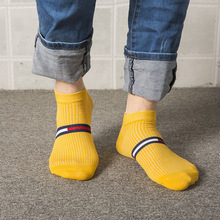 2019 mens socks spring and autumn new cotton college wind casual breathable deodorant male