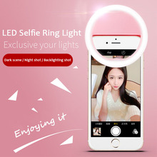 Photography ring lamp dimmable LED Selfie Ring Light for iphone Samsung Smartphone Camera youtube video led selfie lamp holder