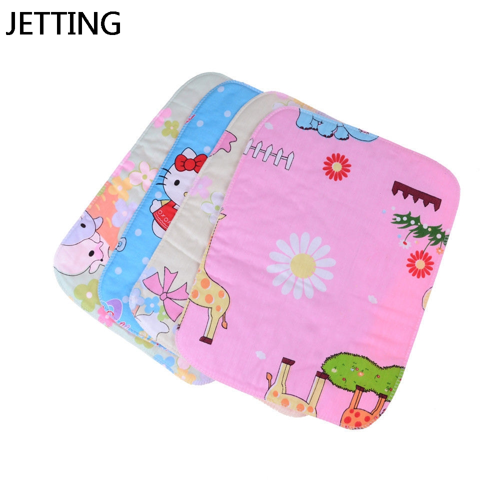 JETTING 1PCS Baby Reusable Nappy Sheet Mat Cover Stroller Pram Waterproof Bed Urine Pad Nappy Changing Pads Covers Random send image