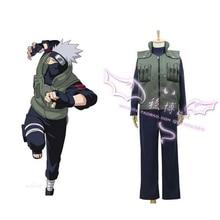 2016 Naruto Hatake Kakashi Versteckter Blatt Dorf Konoha Jounins Uniform Anime Cosplay Kostüm