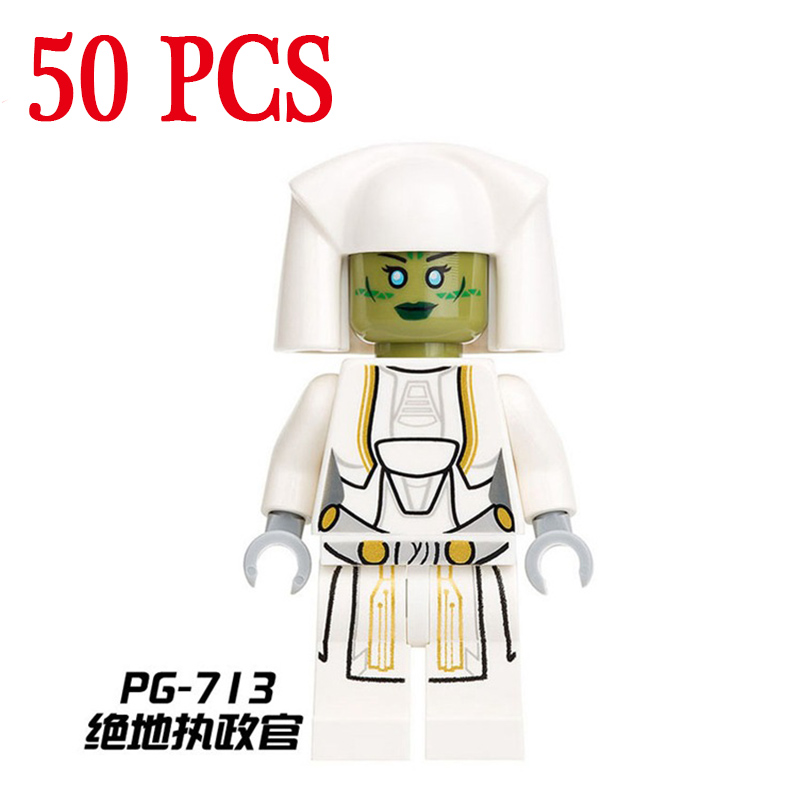 gifts Star Wars Pogo PG713 Wholesales First Order Jedi Archon 50PCS Building Blocks Bricks Compatible legoe Toys