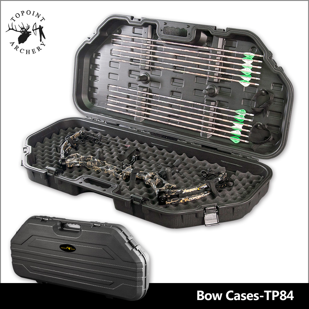 Topoint Archery,COMPOUND BOW HARD STORAGE CASE ARROW CASE PADDED LOCKABLE AIRLINE APPROVED ARCHERY HUNTING