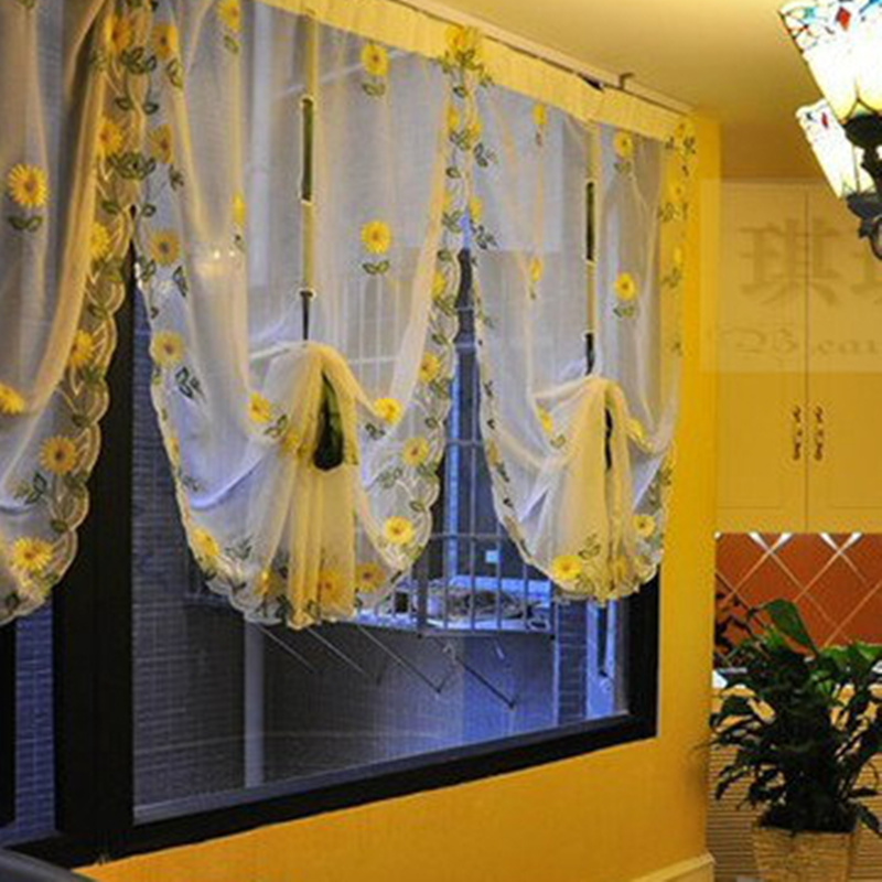 New Window Curtain Blinds Embroidered Voile Sheer