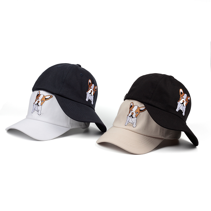 New Arrival Girls Hip Hop   Baseball     Caps   Embroidery Smoking Dog Snapback Bone   Caps   dad Hats Women Man Summer Gorras Casquette
