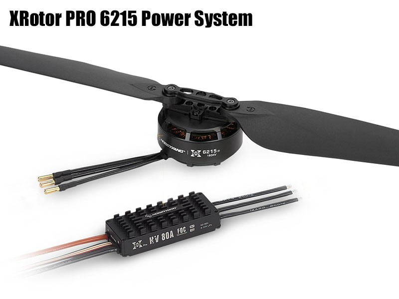 Hobbywing Combo XRotor PRO 6215 180KV 2388 Propeller 80A HV FOC V4 ESC RTF CCW/CW Prop Power System for Agricultural Drones newest flycolor waterproof 80a hv brushless esc for agricultural rc drones diy quadcopetr multicopter
