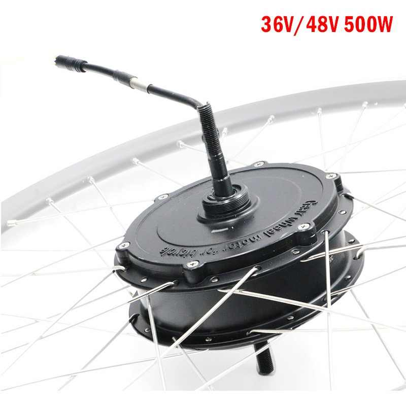 48V/36V 500W Electric Bike Hub Motor V/ Disc Brake City Bike MTB Front Rear Motor Drive BLDC Ebike Motor Brushless Gear Motor