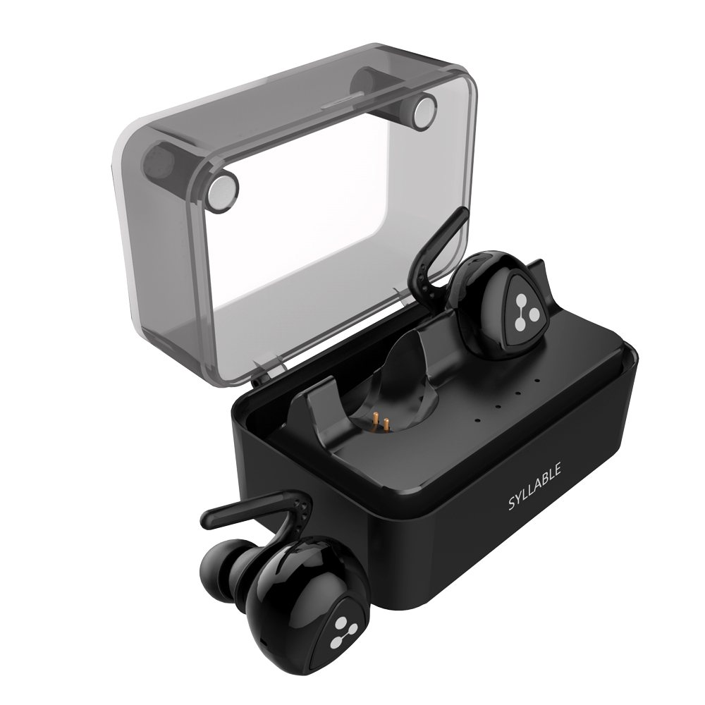 Syllable D900MINI True Wireless Bluetooth earphones Stereo Binaural Sports Earbuds In-Ear Earphone Built-in Mic with Charge Box