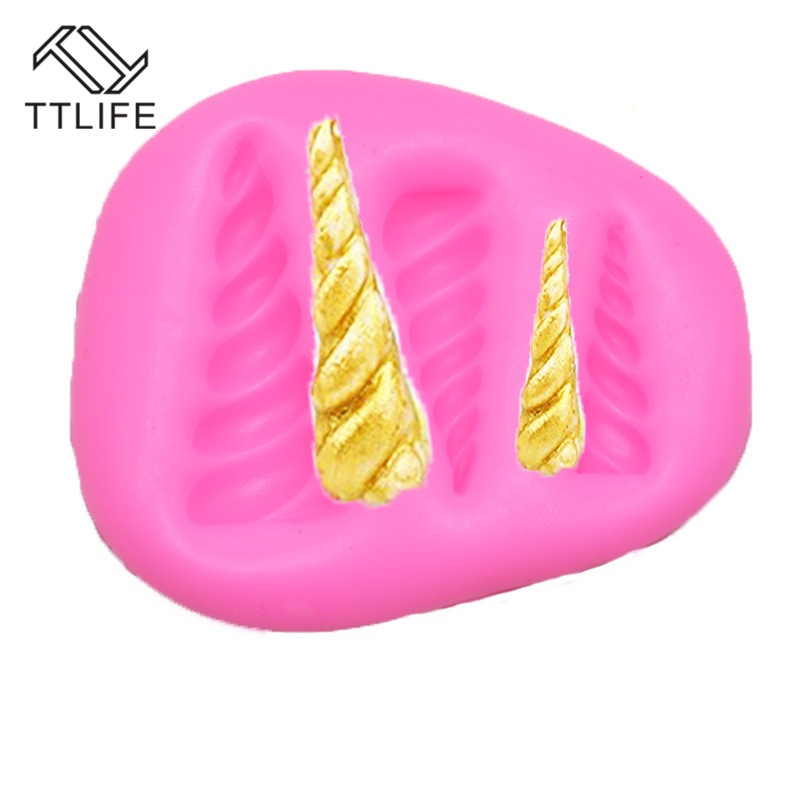 TTLIFE 2 Styles Unicorn Silicone Mold Fondant Cake Decorating Tools Chocolate Gumpaste Sugarcraft Baking Moulds Kitchen Gadgets in Cake Molds from Home Garden