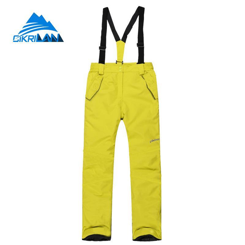 2019 enfants neige Sports de plein air coupe-vent imperméable Snowboard Ski pantalon garçons filles randonnée Camping escalade pantalon avec sangle