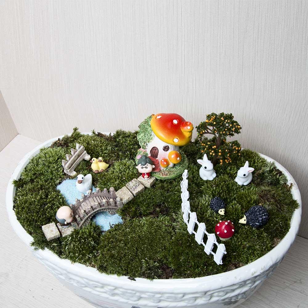 18pcs / set Μικρό τοπίο σπίτι Bonsai DIY κούκλα - Διακόσμηση σπιτιού - Φωτογραφία 4