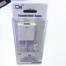 Thunderbolt mini dp to VGA female cable adapter for Macbook white color