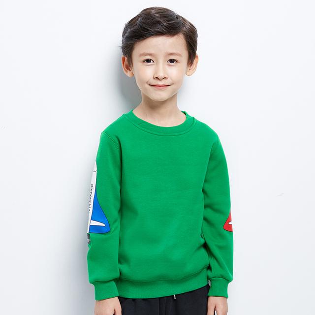 Pioneer Kids 2016 Cotton 4-16Years Kids T Shirt Thick Clothing Winter Long Sleeve Baby Boys T-Shirt Children sweater boys 6T905
