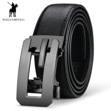 WILLIAMPOLO Men Luxury Genuine Leather Belt Automatic Buckle Waist Strap Cowskin Business Belts #17152P