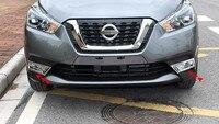 2 Pcs Luxurious ABS Chrome Car Front Fog Light Lamp Cover Trims For Nissan Kicks 2017