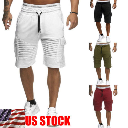 Casual Men Cargo Shorts Casual Army Combat Camo Summer Trousers Bottoms