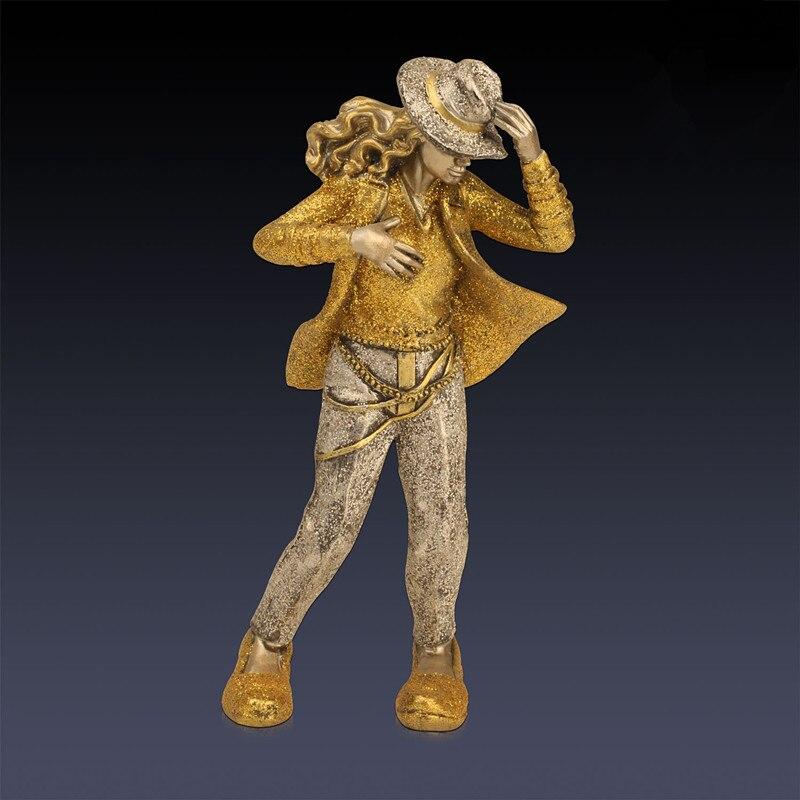 Dancing Souvenir Michael Jackson RockStar Doll Colophony Crafts Home Decorations Action Figure Collectible Model Toy L1968 цена