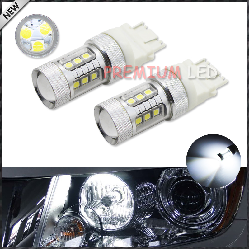 iJDM HID White 15-SMD-3535 Powered 3157 T25 LED Bulbs For Daytime Running Lights, DRL For 2011 and up Jeep Grand Cherokee,6000K 2pcs brand new high quality superb error free 5050 smd 360 degrees led backup reverse light bulbs t15 for jeep grand cherokee