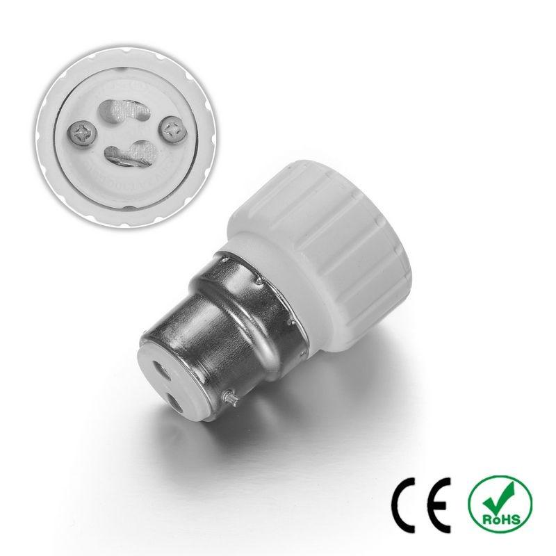 200pcs B22 to GU10 Adapter Lamp Holder Converter Lamp Base Socket Fireproof PBT Copper LED Light Bulb Holder Extender Plug