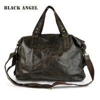 Guaranteed 100 Natural Genuine Leather Men Bag Shoulder Tote Leather Men Travel Bags Men S Bags