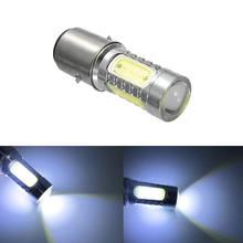 Ampoule de phare de motocyclette, 1 pièce, lampe blanche en aluminium, BA20D H6, 12v