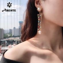 ANI 14K Roll Gold Fashion Handmade Women Earrings Natural Freshwater White Pearl Drop Earring Roll Gold Dangle aretes все цены