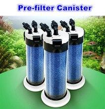 External Aquarium Sponge Filter Canister Fish Tank Prefilter Used With External Filter Pump or Water Pump