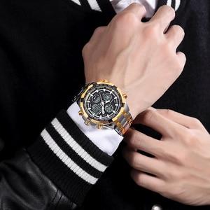 Image 5 - GOLDENHOUR Luxury Brand Quartz Wrist Watch Analog Digital Watches Men Army Military Sport Watch Relogio Masculino Male Clock