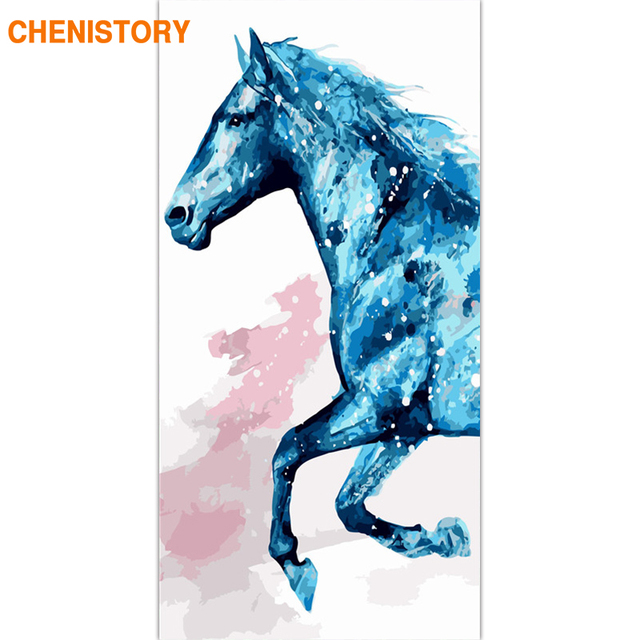 CHENISTORY Frame Horse DIY Painting By Numbers Large Size Acrylic Paint By Number Wall Art Canvas Painting Home Decors 60x120cm