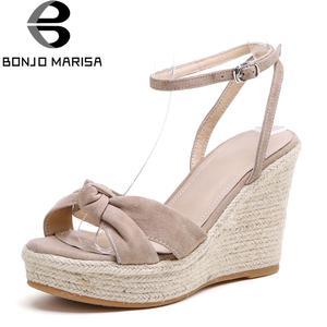 2906b435eaf BONJOMARISA Wedges Platform Shoes Woman Summer Sandals