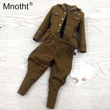 Mnotht 1/6 Japanese army Yukio uniform model JP639 veteran brown suit male soldier clothes accessory for 12'' toy action figure(China)