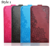 3D Stereo Embossing lace flower butterfly flip up and down leather phone bag cover