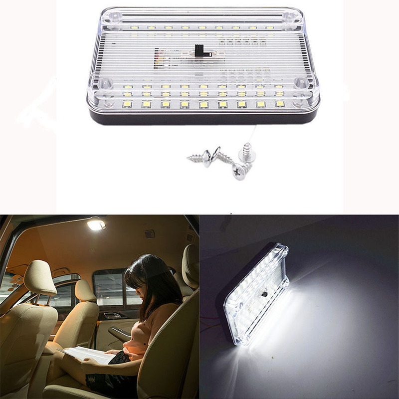36 LED Car Vehicle Interior Dome Roof Ceiling Reading Trunk Light Lamp 12V Universal