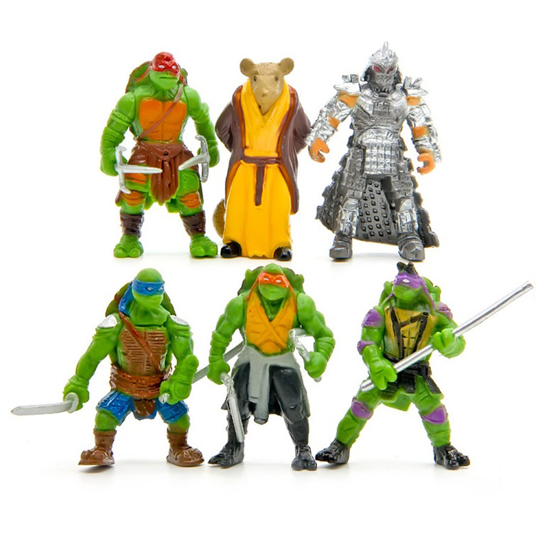 JAPAN turtle Action Figure Doll Toy Super Warrior Turtle and Mouse Teacher Turban Turtle Mini Figurine Deco for Home/Party