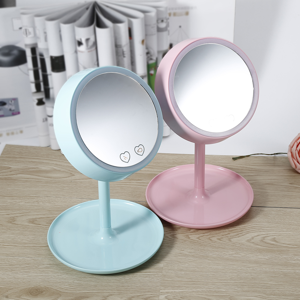 High Quality USB Charged 2 In 1 LED Light Makeup Mirror Table Lamp Vanity  Mirror Intelligent Mirror Desk Stand Makeup Mirror In Makeup Mirrors From  Beauty ...