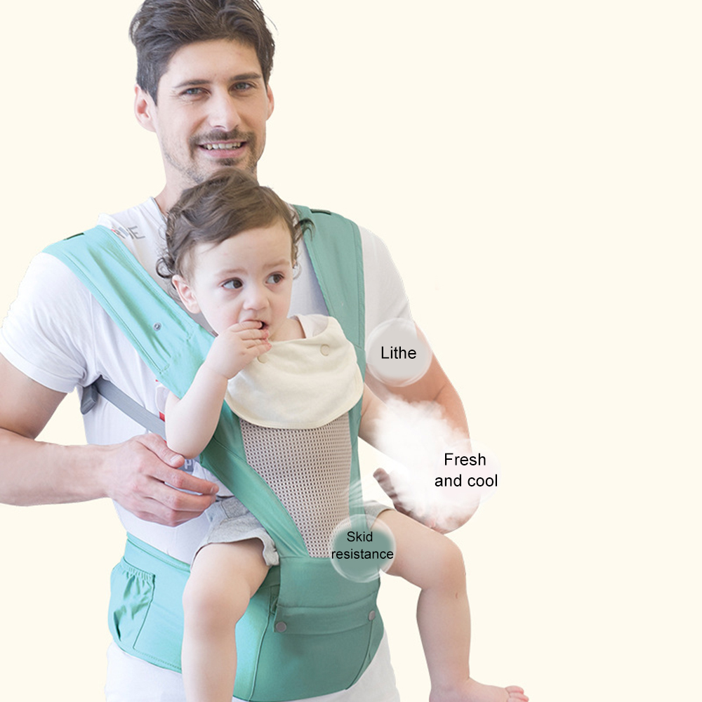 Multifunctional Baby Infant Carrier Waist Stool Front Sling Belt Straps Hip