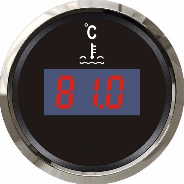 brand new digital type water thermometer water temp gauges 12v/24v suitable for boat automobile with sensor black tpi 306c 40 150 pen type digital thermometer