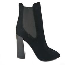 winter women shoes fashion  high heels boots office ladies genuine leather high heel winter boots ankle high heels fashion shoes цена в Москве и Питере