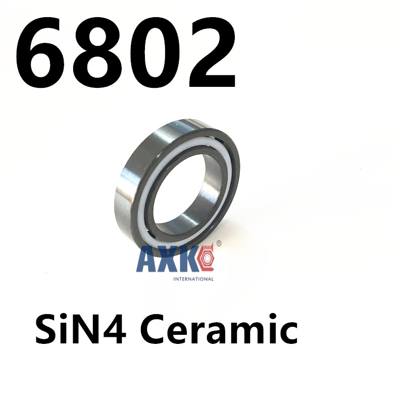 Free shipping 6802 full SI3N4 ceramic deep groove ball bearing 15x24x5mm P5 ABEC5 free shipping 6802 2rs bearing steel hybrid ceramic deep groove ball bearing 15x24x5mm 6802 2rs 6802rs