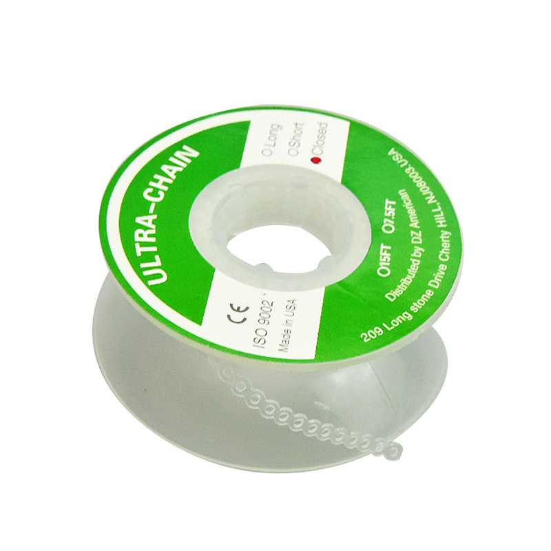 2pcs Dental Elastic Rubber Chain Elastic Power Spool Orthodontics High Strengh Transparent Continuous Chain Oral Teeth Material
