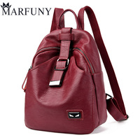 MARFUNY Brand Women Backpack High Quality Split Leather Backpack Large Capacity Shoulder Bags Female Backpack Casual