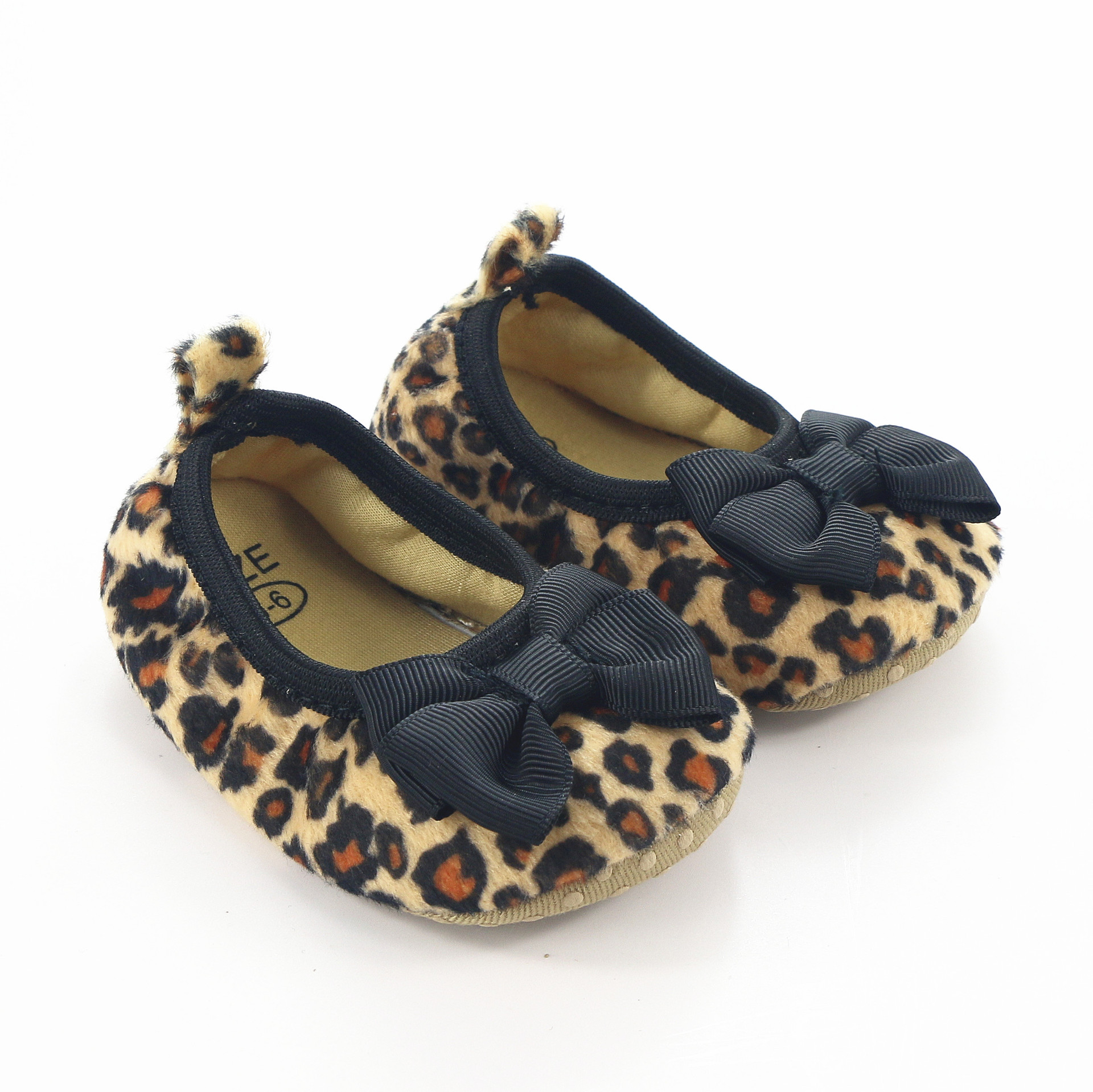 2017 fashion shallow leopard girls shoes baby girl first