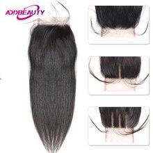 HD прозрачный 4x4 кружева закрытие прямые девственные бразильские человеческие волосы бесплатно Средний три части натуральный цвет для черной женщины