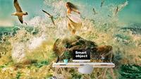 Oceano Retro Girl Sol Gaivotas Rolos de Papel De Parede 3d Pintura Mural Da Parede Arte Da Pintura Restaurante Do Hotel Escritório Sala de Estar Decoração Do Quarto