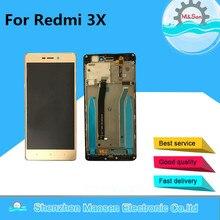 Дешевые M & Sen для Xiaomi Redmi 3X Hongmi 3X ЖК-дисплей экран + Сенсорная панель планшета с рамкой черный/белый/ золото Бесплатная доставка