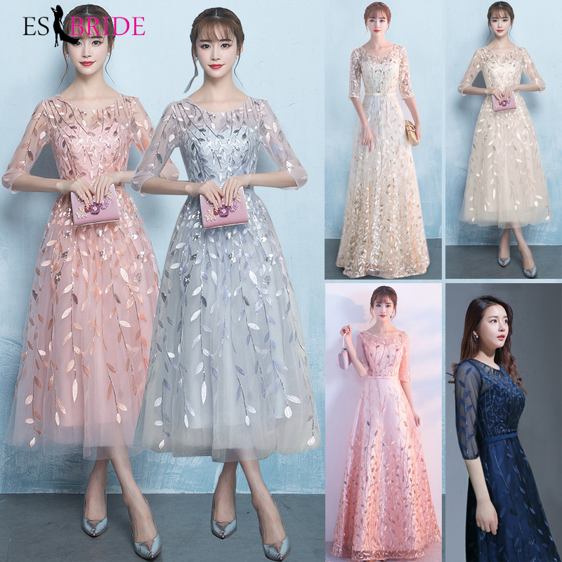 Long Evening Gowns 2019 New Prom Dresses Elegant Princess Formal Dress Lace Special Occasion Dress Party Robe De Soiree ES1645