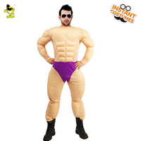 Adult Men's Muscle Costumes Role Play Strong Men Muscle Jumpsuit Cosplay Christmas&Carnival Party Muscle Costumes