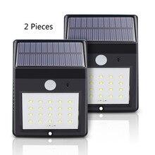 Фотография Solar Power Pir Lamp Outdoor 20 LEDs Motion Sensor Outdoor Led Solar Panel Lights Waterproof Garden LED Lighting 2 Pieces